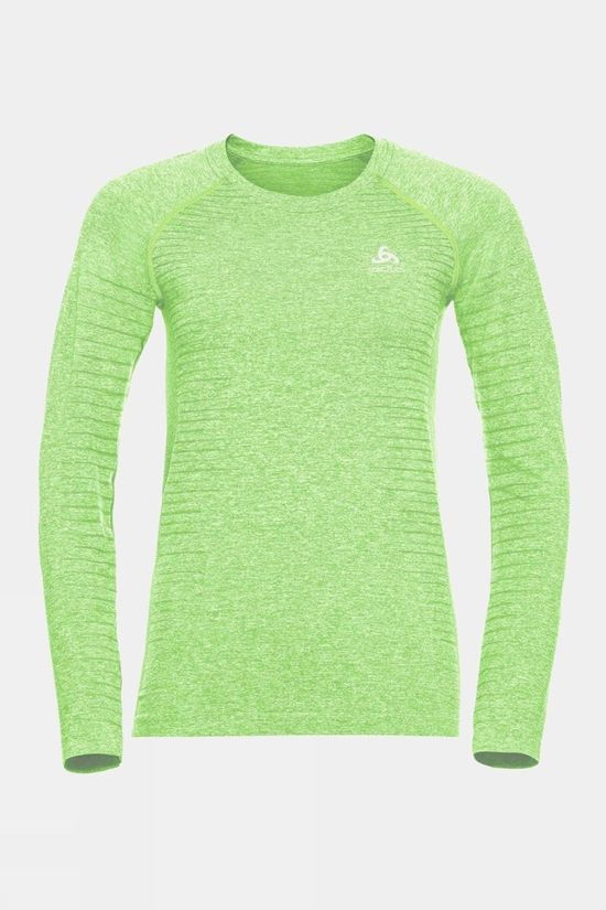 Odlo Womens Seamless Element Long-Sleeve Top Tomatillo Melange