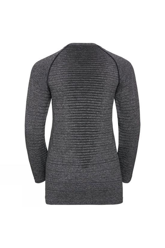 Odlo Womens Seamless Element Long Sleeve Crew Neck T-Shirt Grey Melange