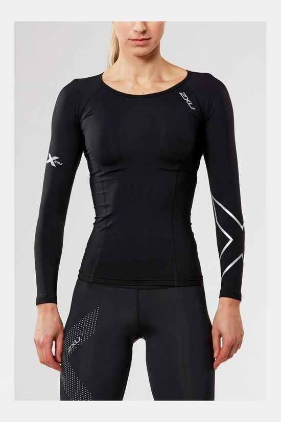 2XU Women's Thermal Compression Long Sleeve Top Black/Black