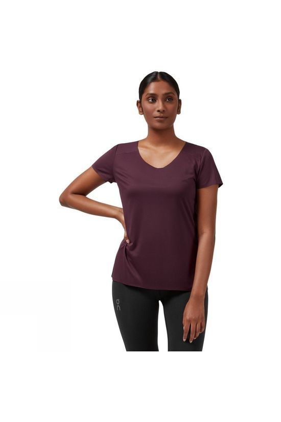On Womens Performance-T Mulberry/Black
