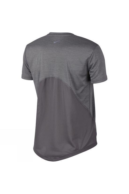 Nike Women's Miler Short Sleeve Running Top Gunsmoke Heather