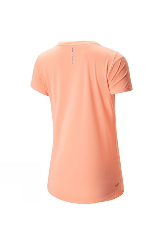 New Balance Womens Accelerate Short Sleeve Tee Ging Pink