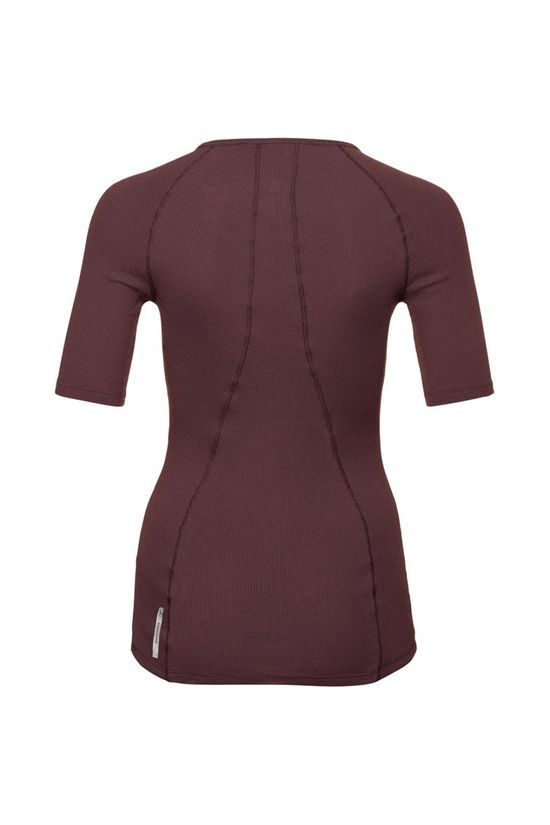 Odlo Womens Pure Wool 3/4-Sleeve T-Shirt Decadent Chocolate