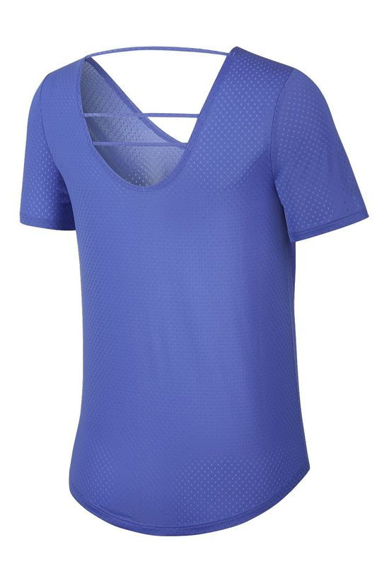 Nike Womens Breathe Short Sleeve Top Sapphire