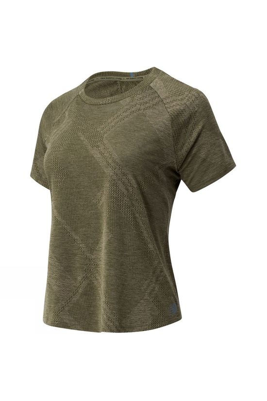 New Balance Women's Q Speed Jaquard Short Sleeve Tee Nettle Green