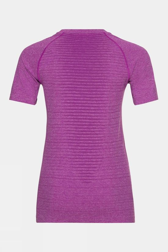 Odlo Womens Seamless Element Short Sleeve Crew Neck T-Shirt Hyacinth Violet Melange
