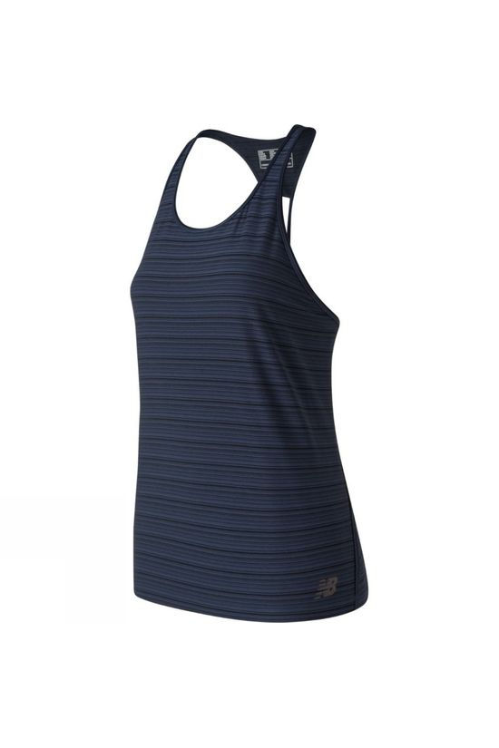 New Balance Women's Q Speed Striped Tank Eclipse
