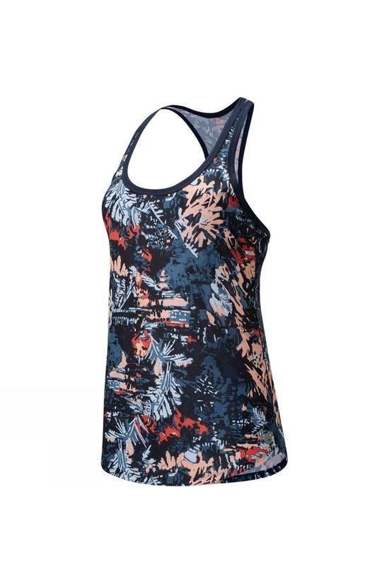 New Balance Womens Printed Accelerate Tank Patterned Ging Pink