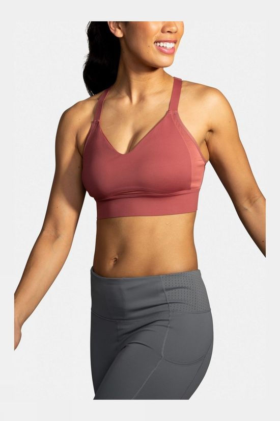 Brooks Drive Interlace Run Bra Terracotta