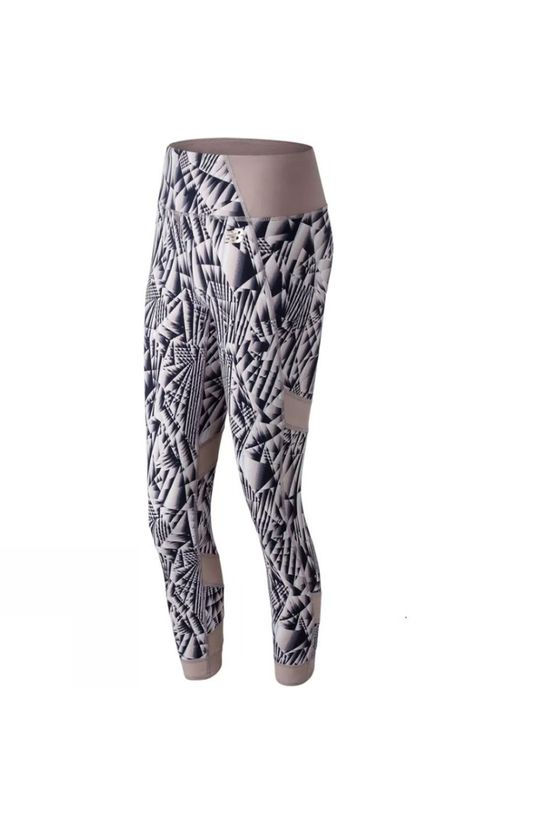 New Balance Womens Printed Evolve Tights Au Lait