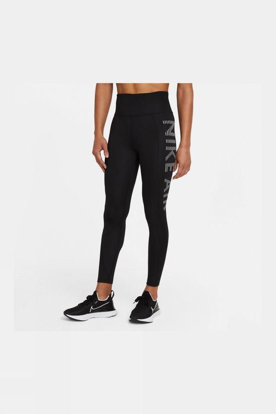 Nike Women's Air Epic Fast Tight 7/8 Black/Silver Reflective