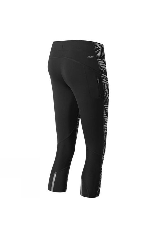 New Balance Womens Impact Capri Print Tights Speed Glitch/Black