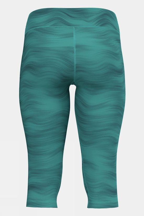 Odlo Womens Essential 3/4 Soft Print Tight Jaded - Graphic Ss21