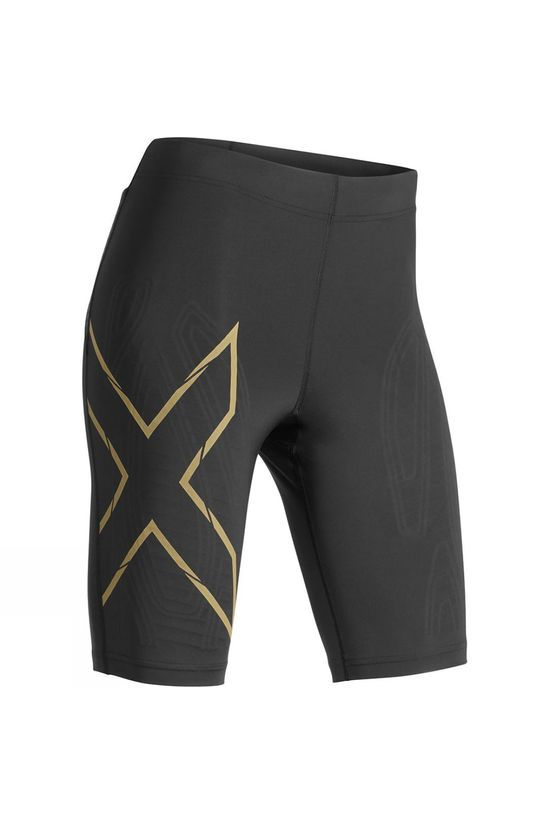 2XU Women's MCS Run Compression Shorts Black/Gold