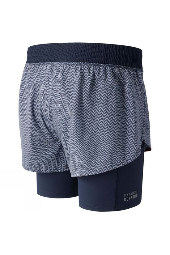 New Balance Womens Printed Impact Run 2in1 Short Eclipse Pattern