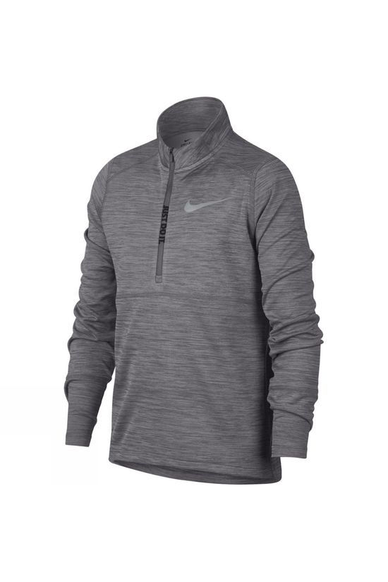 Nike Nike Boys' 1/2-Zip Running Top Gunsmoke/ Wolf Grey