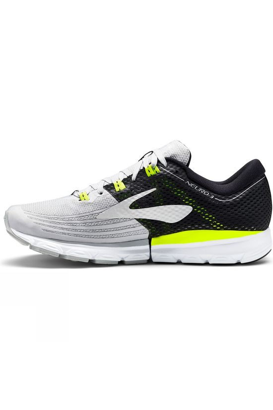 Brooks Mens Neuro 3 Grey/Black/Nightlife