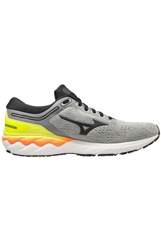 Mizuno  Men's Wave Skyrise Frost Gray / Phantom / Safety Yellow