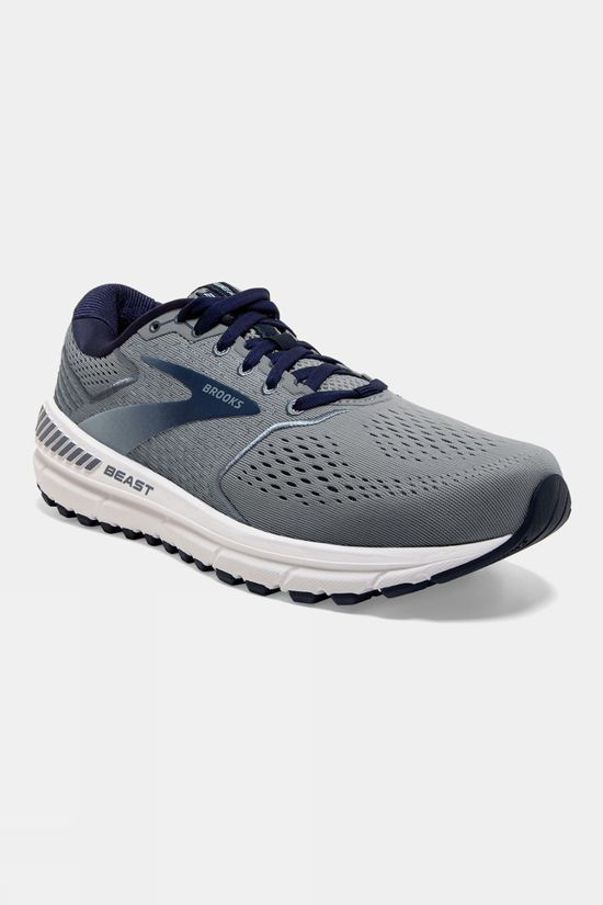 Brooks Mens Beast '20 Wide Blue/Grey/Poseidon