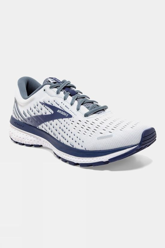 Brooks Mens Ghose 13 Wide White/Grey/Deep Cobalt