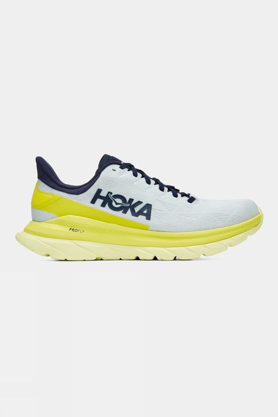 Hoka One One Men's Mach 4 Blue Flower/Citrus