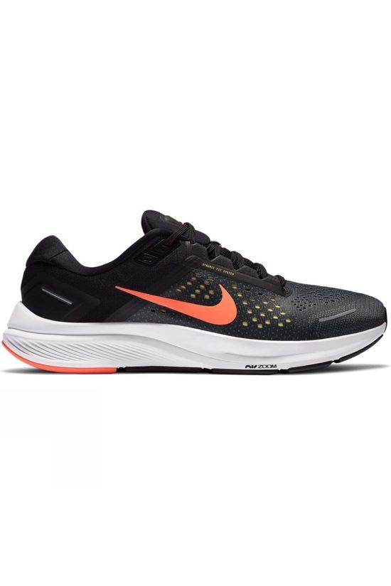 Nike Mens Air Zoom Structure 23 Anthracite/Bright Mango-Balck