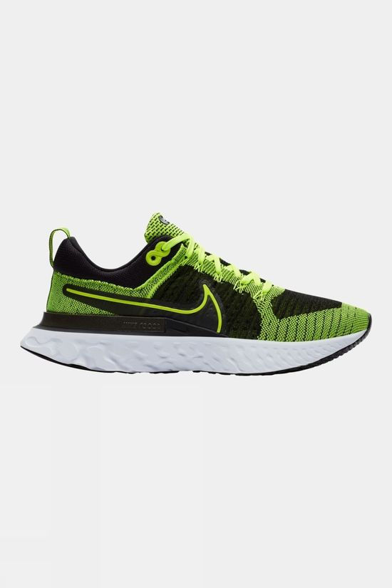 Nike Men's  React Infinity Run Flyknit 2 Volt/ Volt-Black