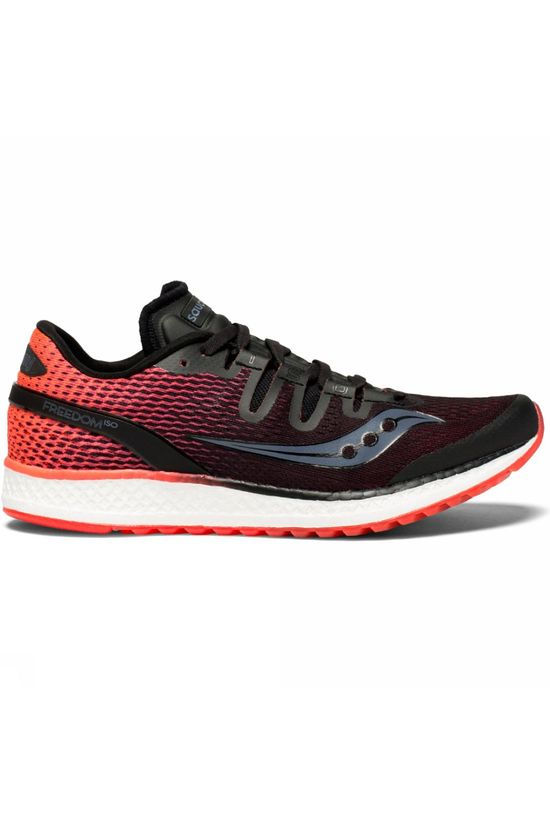 Saucony Womens Freedom ISO (Black/Vizi Red) Black/Vizi Red