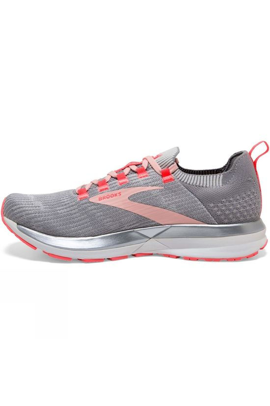 Brooks Women's Ricochet 2 Grey/Alloy/Coral Cloud
