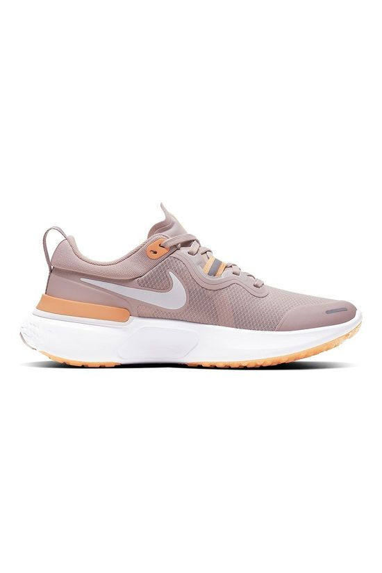 Nike Women's  React Miler Champagne/White-orange Pulse-barely Rose