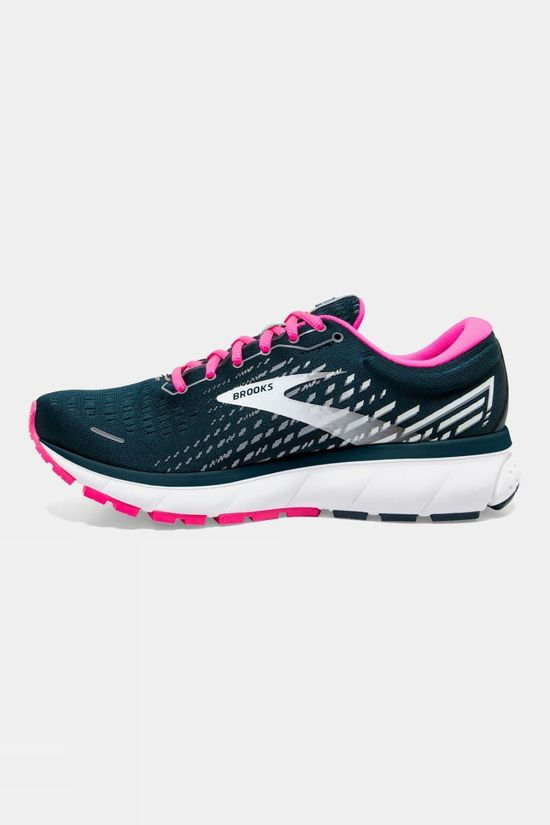 Brooks Women's Ghost 13 ReflectivePond/Pink/Ice