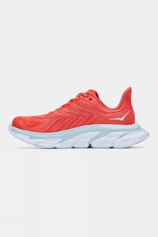 Hoka One One Women's Clifton Edge Hot Coral/ White