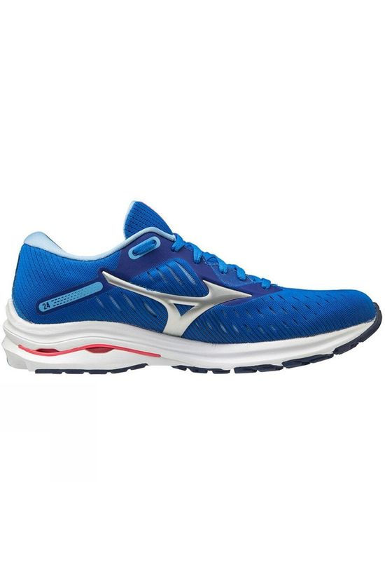 Mizuno Women's Wave Rider 24 Princess Blue/ Silver /Diva Pink