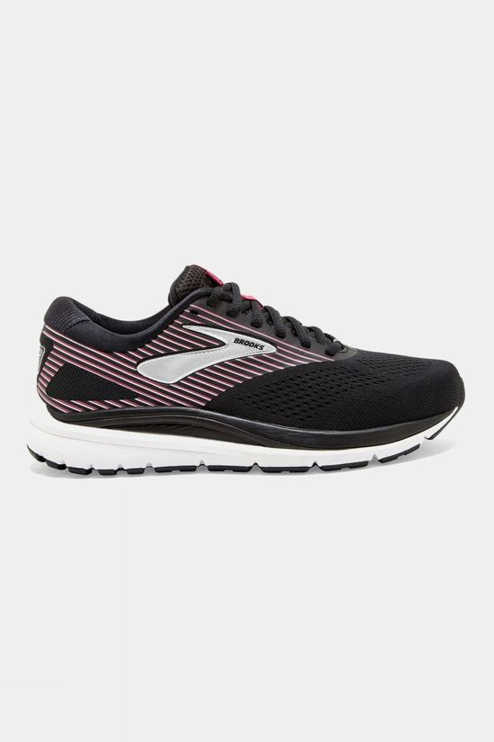 Brooks Womens Addiction 14 Wide Black/Hot Pink/Silver
