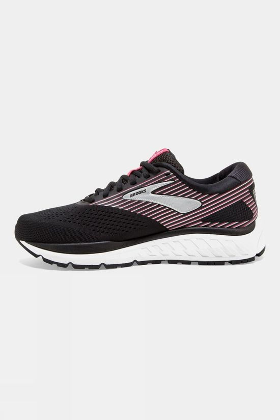 Brooks Womens Addiction 14 Narrow Black/Hot Pink/Silver