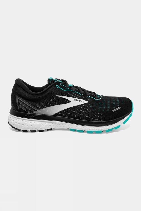 Brooks Womens Ghost 13 Narrow Black/Blue Bird/White
