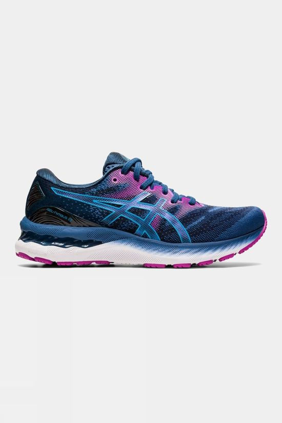 Asics Womens GEL-Nimbus 23 Grand Shark/Digital Aqua