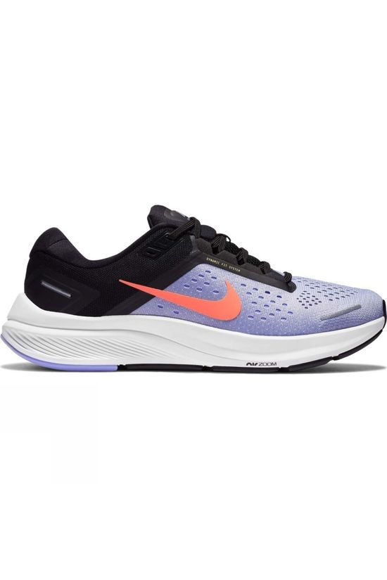 Nike Women's Air Zoom Structure 23 INDIGO HAZE/BRIGHT MANGO-BLACK
