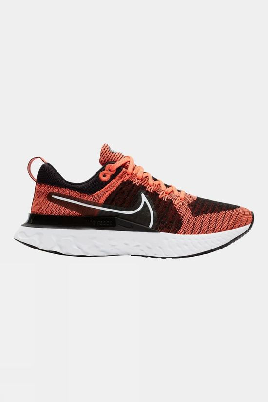 Nike Women's  React Infinity Run Flyknit 2 Bright Mango/ White-black