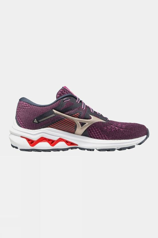 Mizuno Women's Wave Inspire 17 India Ink / Platinum Gold / Ignition Red