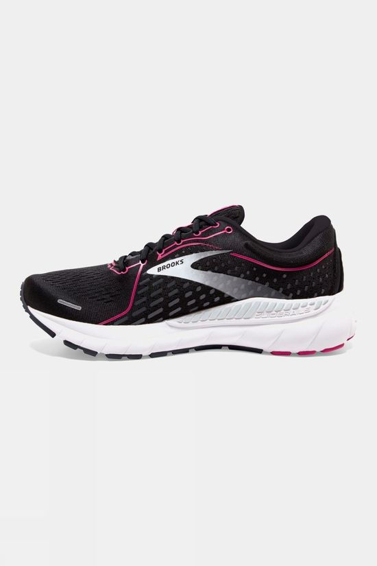 Brooks Women's Adrenaline GTS 21 Wide    Black/Raspberry/Sorbet/Ebony