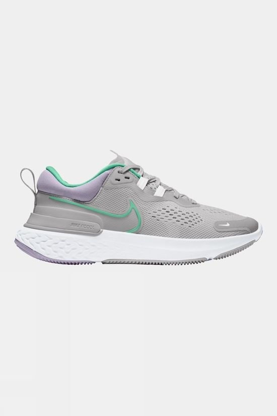 Nike Women's React Miler 2 Platinum Tint/ Green Glow-white