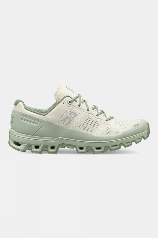 On Womens Cloudventure White | Moss