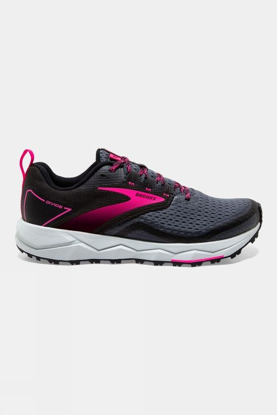 Brooks Womens Divide 2 Black/Ebony/Pink