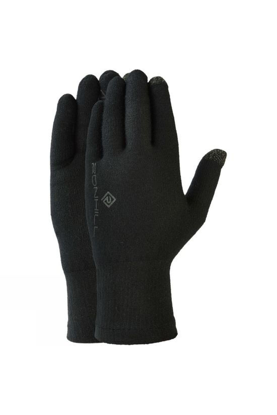 Ronhill Merino Seamless Glove All Black