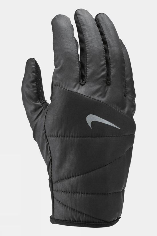 Nike Men's Quilted Run Gloves 2.0 Black/Silver