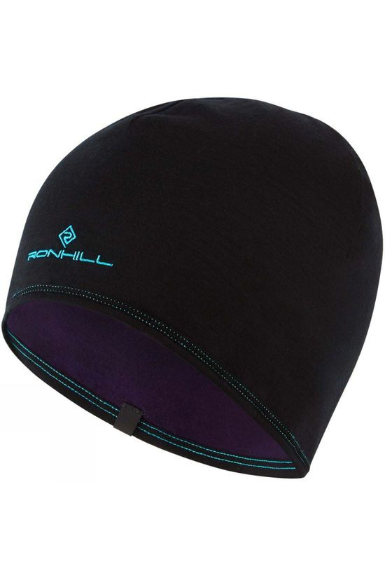 Ronhill Women's Reversible Merino Hat Blackberry Aquamint/Black