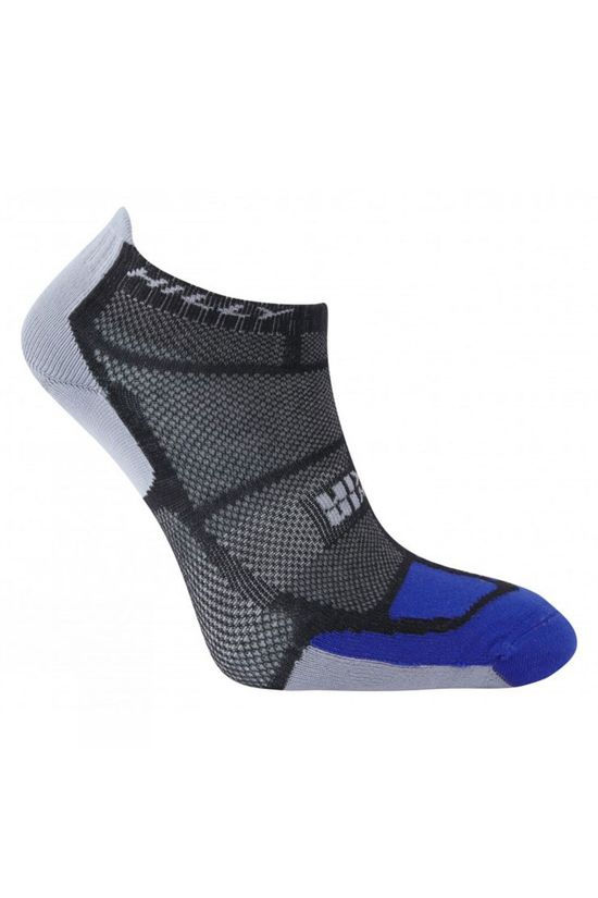 Hilly Twin Skin Socklet Black / Electric Blue / Grey