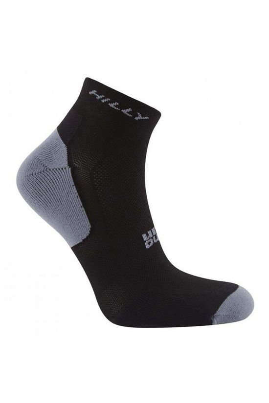 Hilly Tempo Quarter Socks (2 Pack) White/Black/Grey