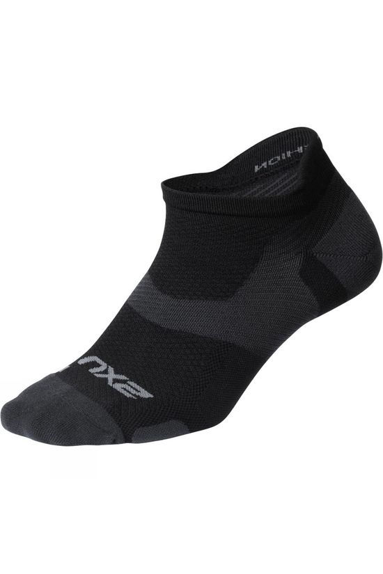 2XU Vectr Light Cushion Low Sock Black/Grey